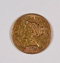 1878-S $2.50 GOLD LIBERTY LUSTROUS XF/AU