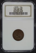 1879 INDIAN HEAD CENT, NGC MS-62