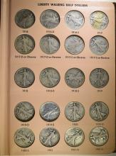 NICE SET WALKING LIBERTY HALF DOLLARS - 1916-1947 NICE CIRC in DANSCO ALBUM