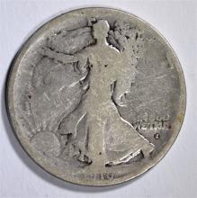 1916-S WALKING LIBERTY HALF DOLLAR - GOOD