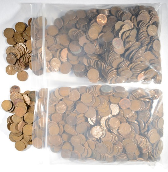 ( 1500 UNSEARCHED WHEAT CENTS ) 1958 AND OLDER LINCOLN WHEAT CENTS