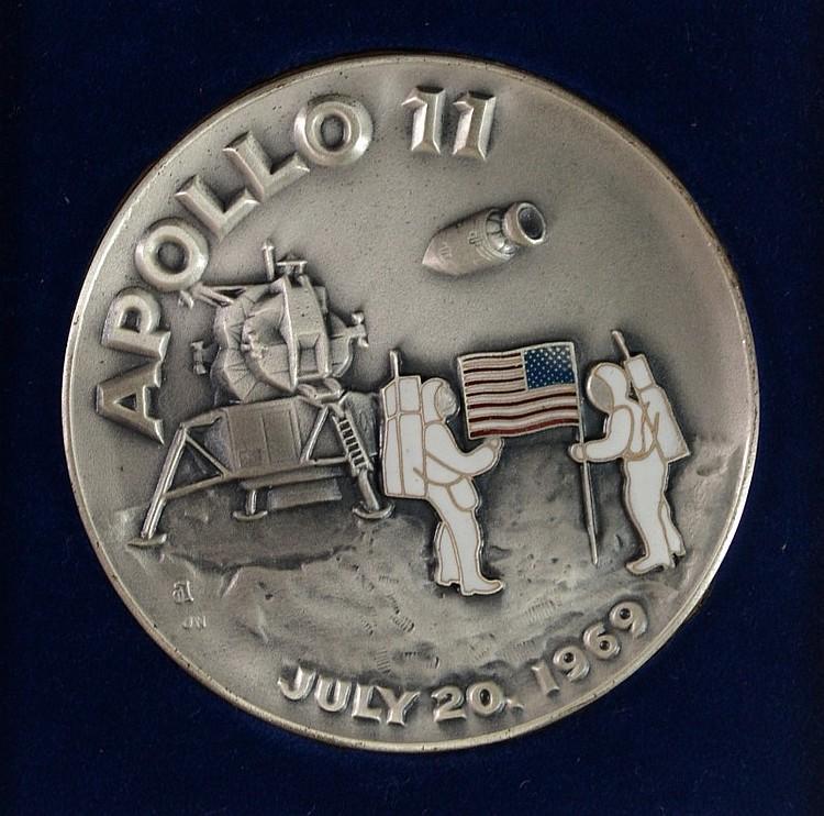 silver medallion apollo 11 coin - photo #2