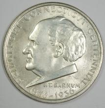 1936 BRIDGEPORT COMMEMORATIVE HALF CH/GEM BU