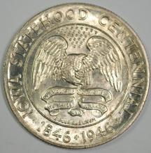 1946 IOWA COMMEMORATIVE HALF GEM BU