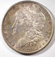 1878-S MORGAN DOLLAR, CH BU TONED