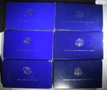 (6) Silver Commemorative Sets