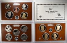 2012 U.S. PROOF SET IN ORIGINAL BOX./COA