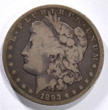 1893-CC MORGAN DOLLAR VG  KEY COIN