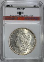 1900-S MORGAN SILVER DOLLAR AGP CHOICE BU+