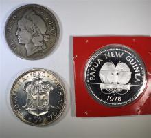 LOT OF 3: 1978 NEW GUINEA 5 KINA PROOF GEM;