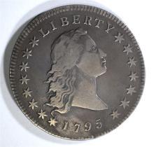 1795 FLOWING HAIR DOLLAR  VF-XF