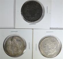 2 - MORGAN DOLLARS VF; 1885 & 1882,