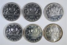 6 - 1965 CANADA DOLLARS UNC