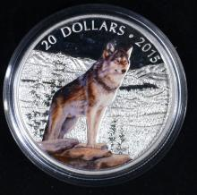2015 $20 CANADIAN WOLF PROOF in BOX
