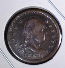 1863 CIVIL WAR TOKEN F111/340a RARE