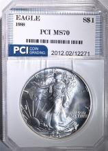 1988 AMERICAN SILVER EAGLE PCI PERFECT