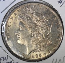 1886-S MORGAN DOLLAR UNC/BU