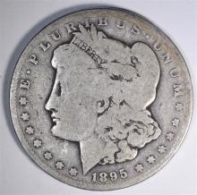1895-S MORGAN DOLLAR, GOOD KEY DATE