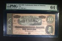 1864 $10 CONFEDERATE STATES OF AMERICA