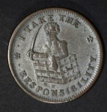 1833 HARD TIMES TOKEN CIRC