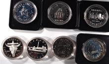 (7) DIFFERENT CANADIAN 50% SILVER DOLLARS IN ORIGI