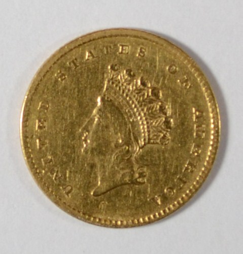 1854 T2 $1 gold