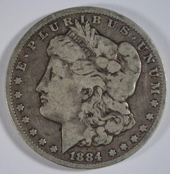 1884-CC MORGAN DOLLAR VG+