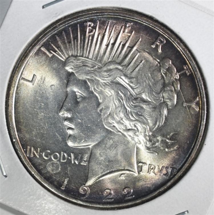 1922-D PEACE DOLLAR CH BU+