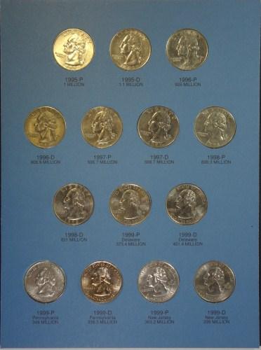 WASHINGTON QUARTER SETS 1965 - 2000 IN WHITMAN ALBUMS
