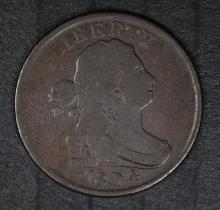 1804 DRAPED BUST HALF CENT, FINE