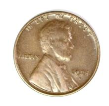 1924-D LINCOLN CENT,  AU BROWN, NICE!!