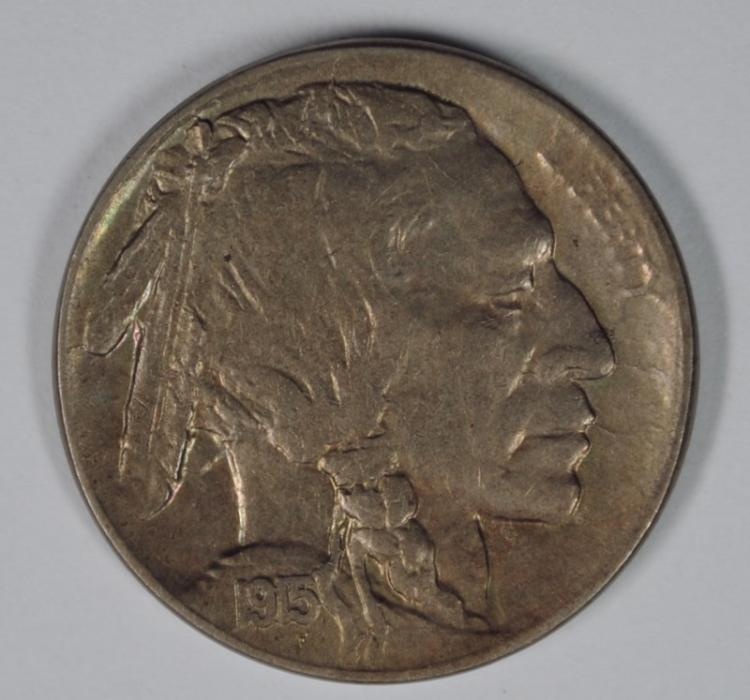 1915-D BUFFALO NICKEL, XF/AU  BETTER DATE