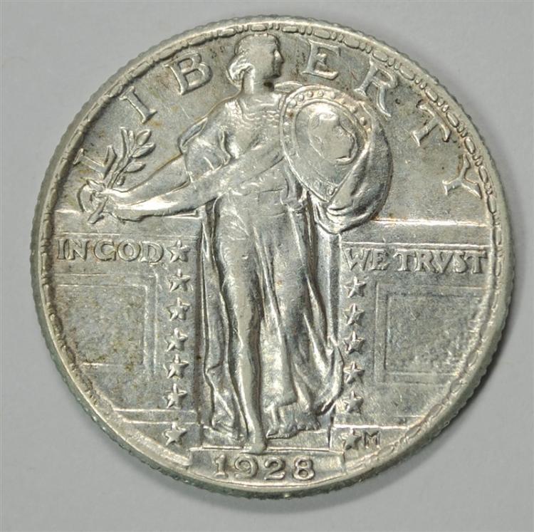 1928 STANDING LIBERTY QUARTER, AU