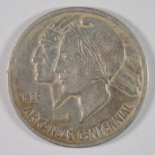 1935-S ARKANSAS CENTENNIAL COMMEMORATIVE HALF DOLLAR, AU