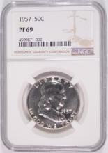 1957 FRANKLIN HALF DOLLAR, NGC PF-69