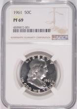 1961 FRANKLIN HALF DOLLAR, NGC PF-69
