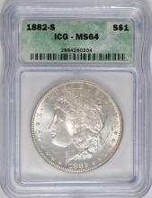 1882-S MORGAN DOLLAR ICG MS-64