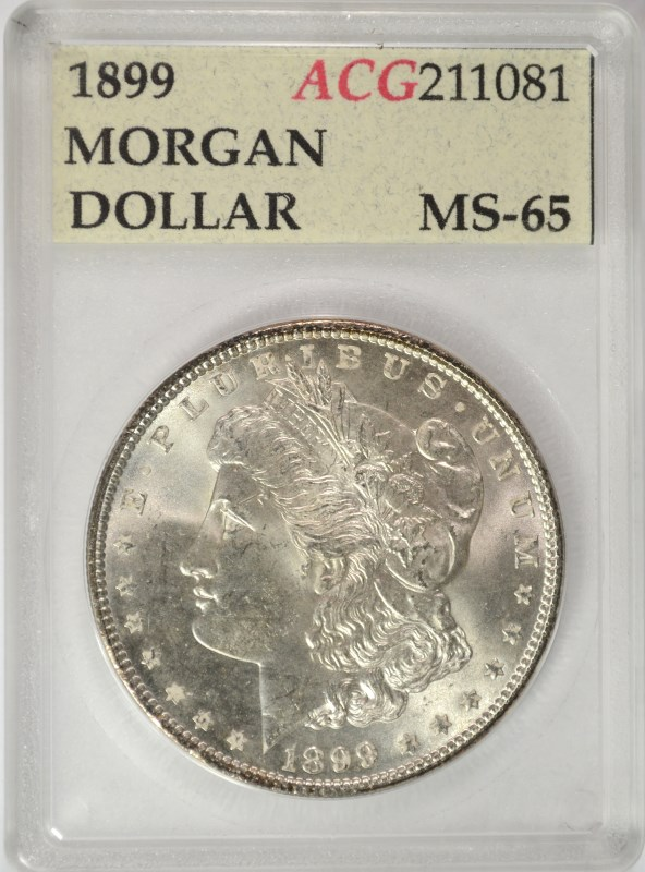 1899 MORGAN DOLLAR ACG GEM BU