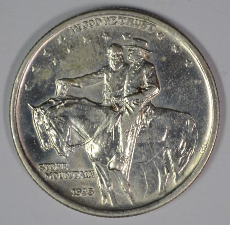 1925 STONE MOUNTAIN COMMEMORATIVE HALF DOLLAR, CHOICE BU