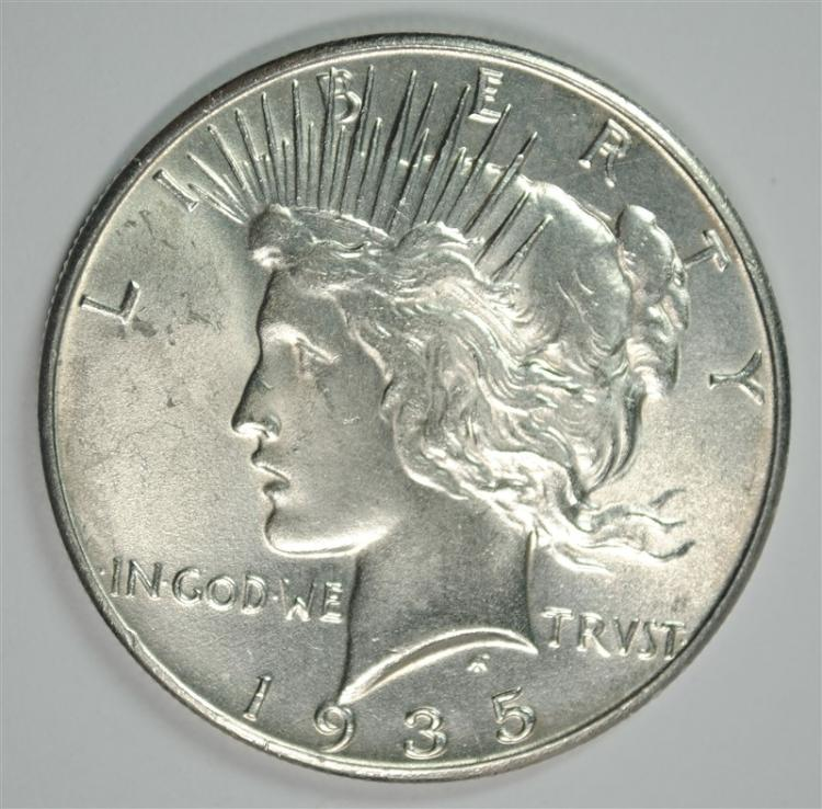 1935 PEACE DOLLAR GEM BU