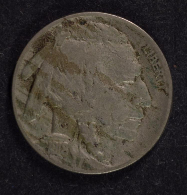 1918-D BUFFALO NICKEL, VF  SEMI-KEY