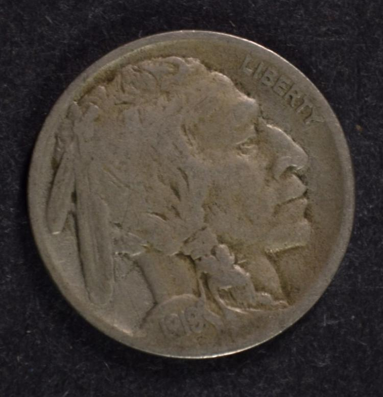 1919-S BUFFALO NICKEL, FINE, SEMI-KEY