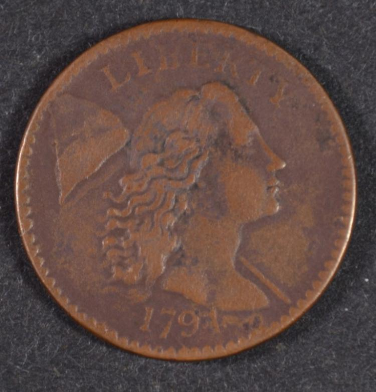1794 LARGE CENT VF