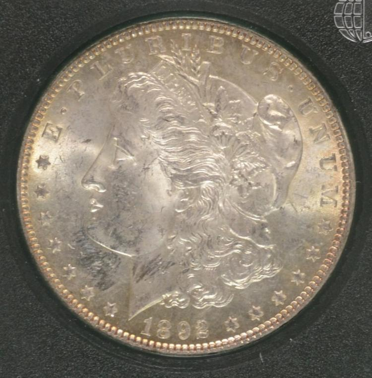 1892 MORGAN SILVER DOLLAR - BU