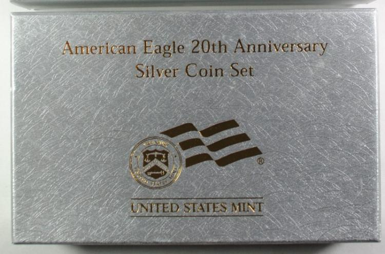2006 American Eagle 20th Anniversary Silver Coin Set - 3 Coins