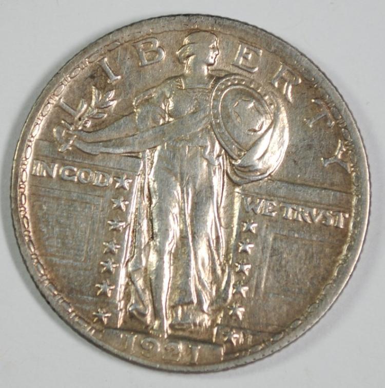 1921 STANDING LIBERTY QUARTER BU