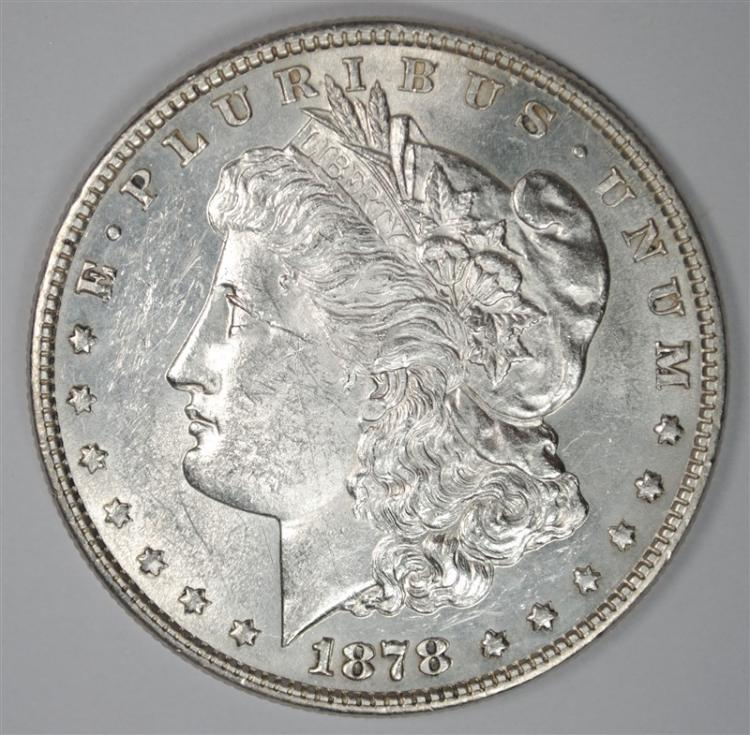 1878 8TF MORGAN SILVER DOLLAR CHOICE BU PROOF LIKE