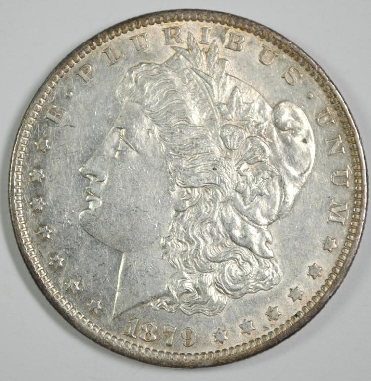 1879-O MORGAN SILVER DOLLAR, CH BU