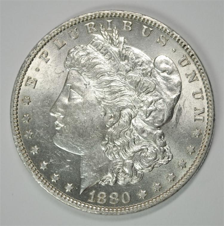 1880-O MORGAN SILVER DOLLAR - CHOICE BU