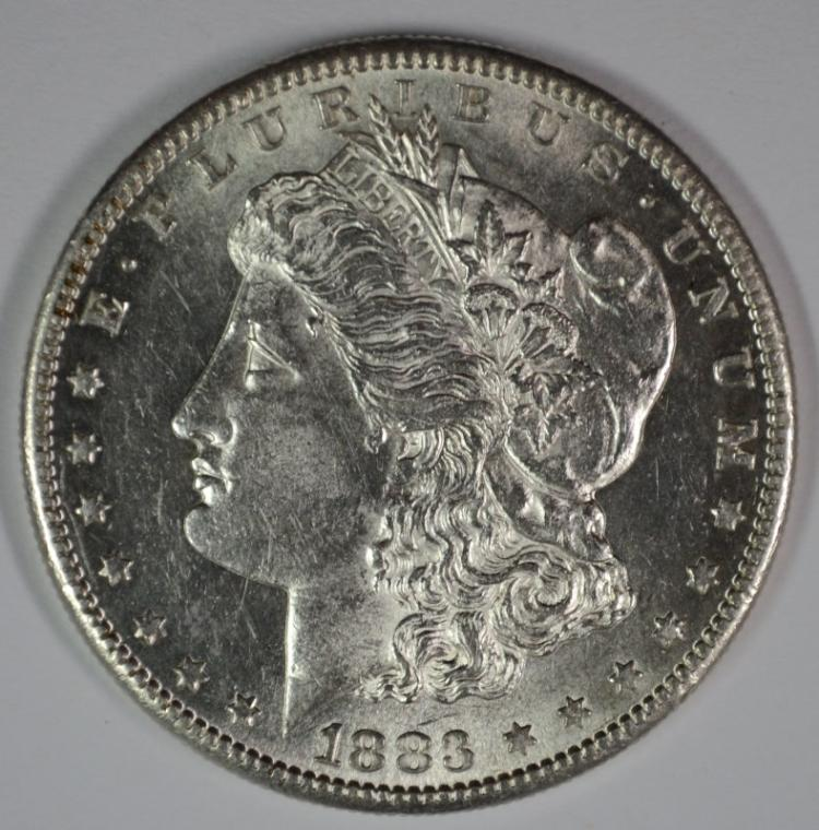 1883-S MORGAN SILVER DOLLAR CHOICE BU - KEY DATE